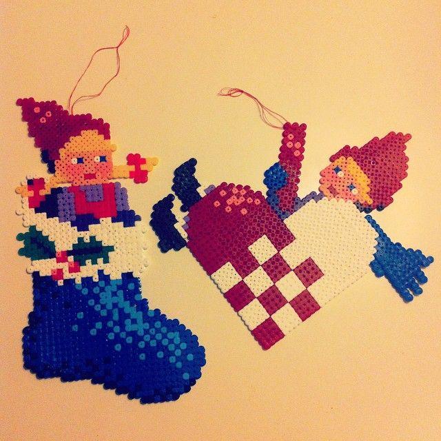 Christmas ornaments hama perler beads by heidicolding