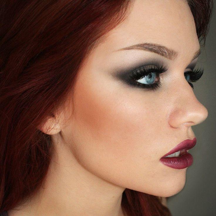 Smoky eye and berry lip by http://batalashbeauty.com/