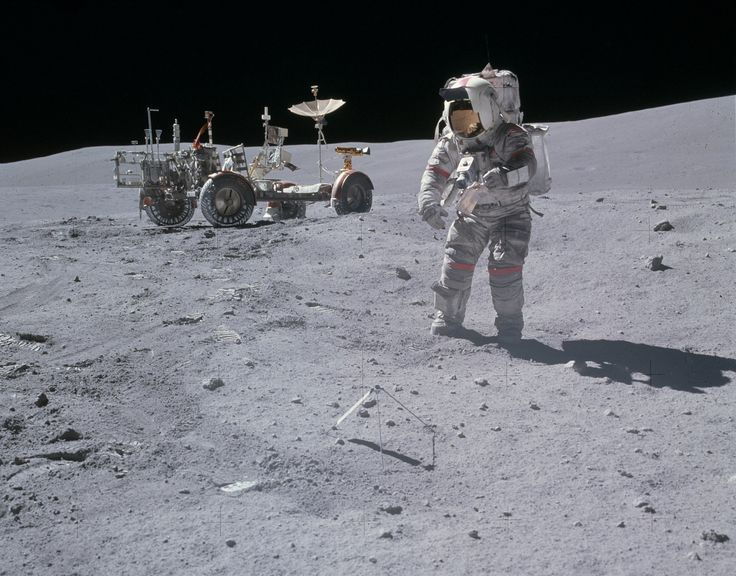 Apollo 16 astronaut John Young on the Moon, April 23, 1972. (NASA)