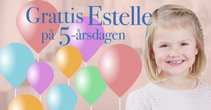 Skicka din egen grattis-ballong till prinsessan Estelle som fyller 5 år.