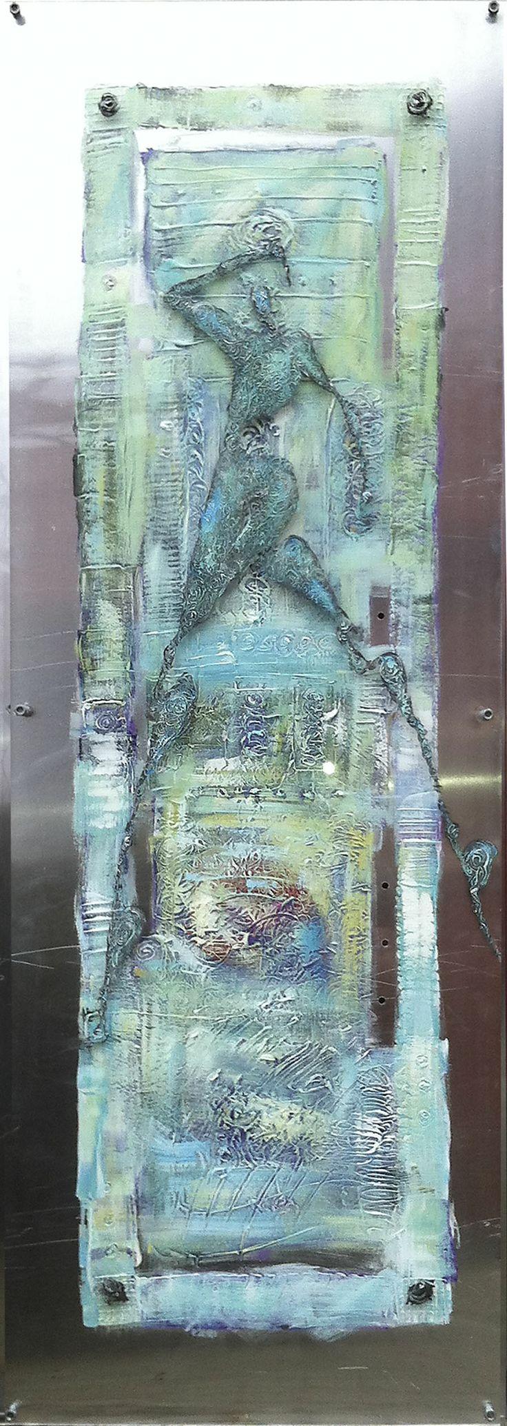 Sweet about me. Painting on aluminum and acrylic. Artist Elisabeth Takvam. 60x170