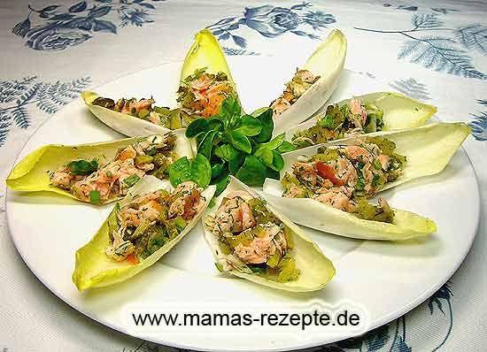 Rezept Chicoree mit Lachsfüllung auf Mamas Rezepte Homepage