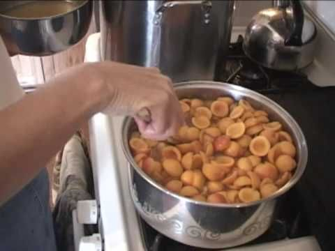 ▶ Canning Apricots Part 1 - YouTube - water bath