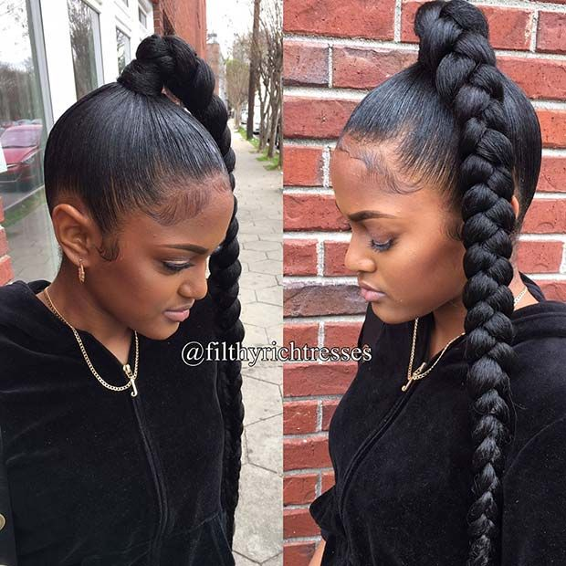 31 Bubble Ponytail Hairstyles With Weave To Wear This Year