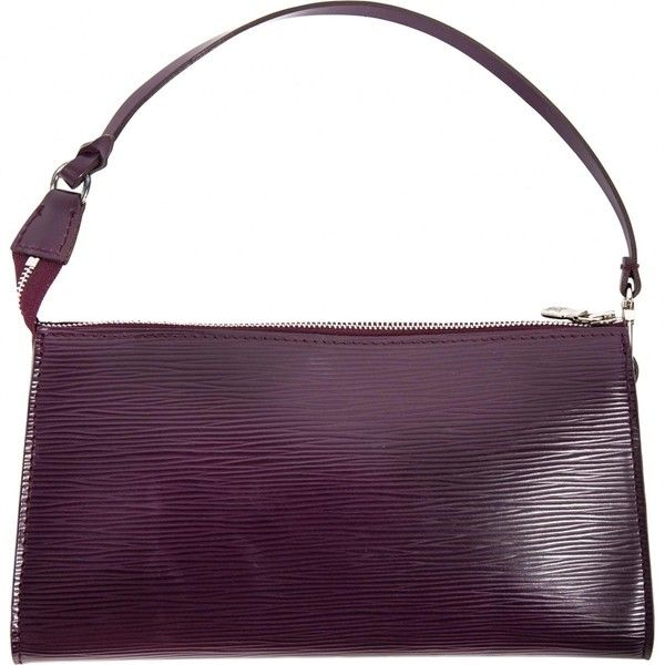 Pre-owned Louis Vuitton Leather Clutch Bag ($350) ❤ liked on Polyvore featuring bags, handbags, clutches, purple, women bags clutch bags, purple leather handbags, real leather handbags, purple leather purse, louis vuitton purse and purple purse