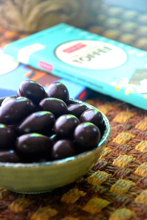 Dark Chocolate Covered Almonds #glutenfree