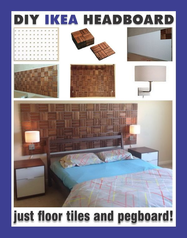 Make A Custom Bedroom Headboard With Items From IKEA
