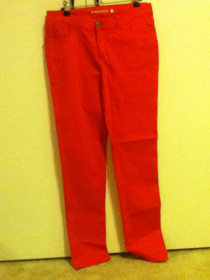 4 - hot pink Emerson skinny jeans, size 12. Rarely worn.