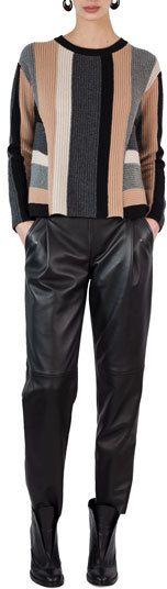 Akris Punto Fiola Leather Slouchy Pants