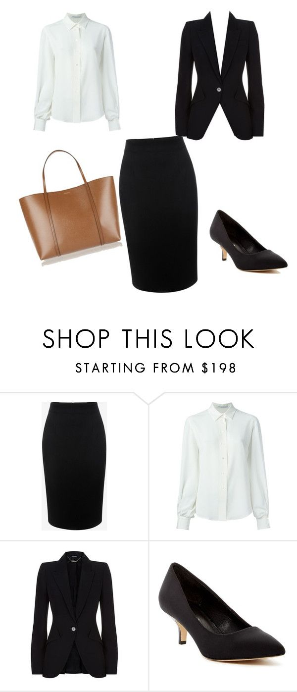 """""""официальная одежда"""" by polina2004 ❤ liked on Polyvore featuring Alexander McQueen, Agnona, Donald J Pliner and Dolce&Gabbana"""