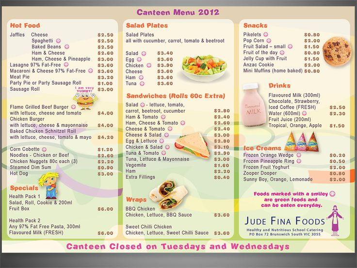 17 Best Images About Food And Menus On Pinterest: 1000+ Images About School Canteen On Pinterest