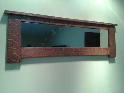 Solid Qtr Sawn Oak Mission Mirror Arts and Craftsman Wall Mirror   eBay