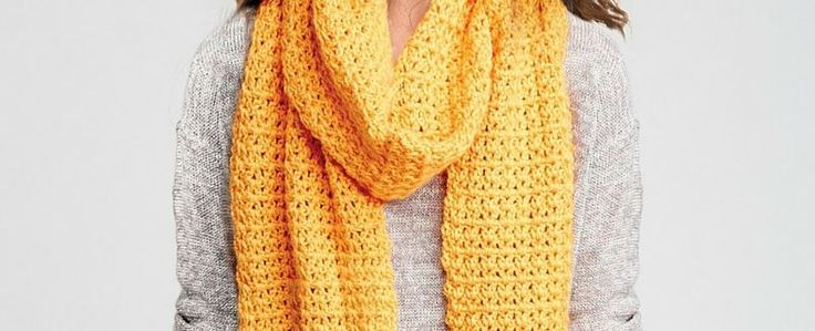 Share Tweet + 1 Mail It's Free Pattern Friday, and nothing brightens up a chilly gray day like a cheery crochet scarf! This free ...