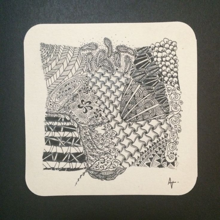 Zentangle inspired art by Amber - one of my firsts