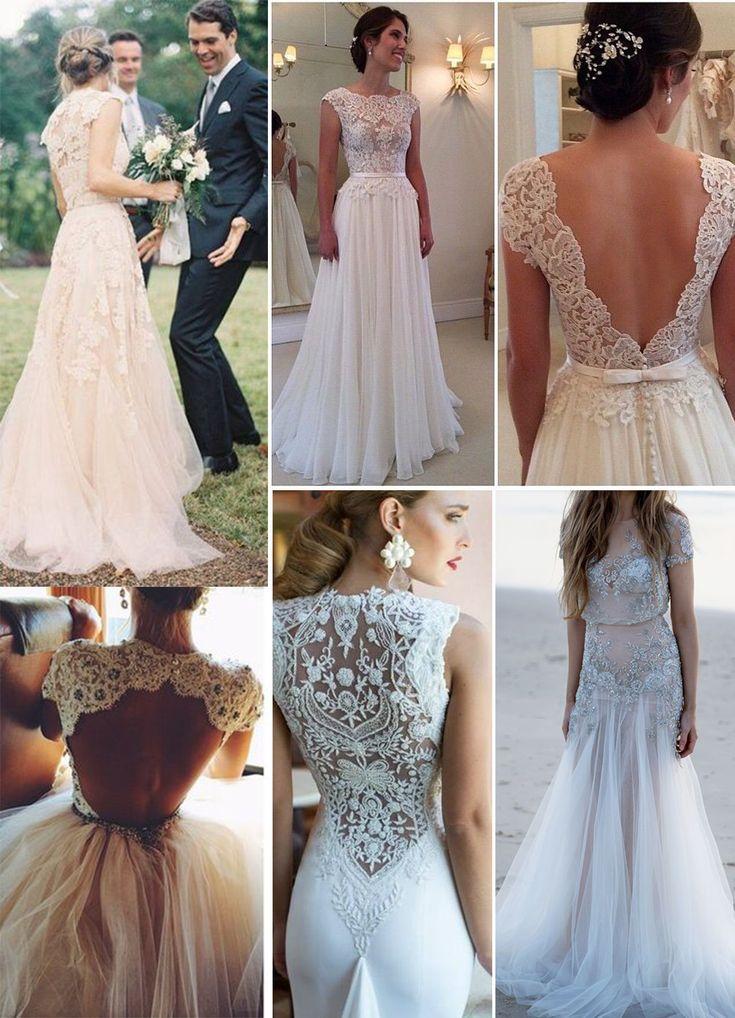 Mais de 40 vestidos de noiva rendados
