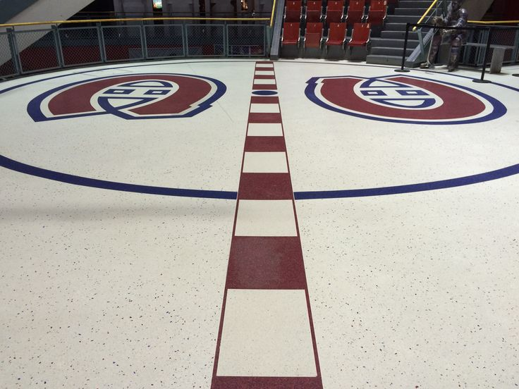 The spot where centre ice used to be at the Forum. #montreal #quebec #canada #canadiens #habs #nhl #hockey #travel