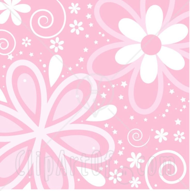 Pink And Black Flower Drawing 28008 Clipart Illustra...