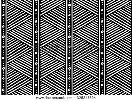 Tribal ethnic seamless african pattern. Vector illustration. - stock vector