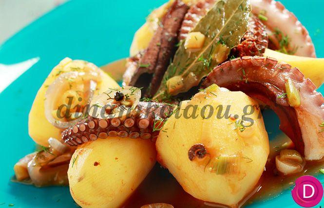 Χταπόδι στην κατσαρόλα με πατάτες | Dina Nikolaou