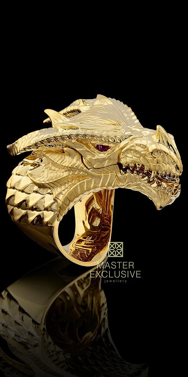 # Master Exclusive Jewellery 18K Gold Dragon ring, with ruby eyes