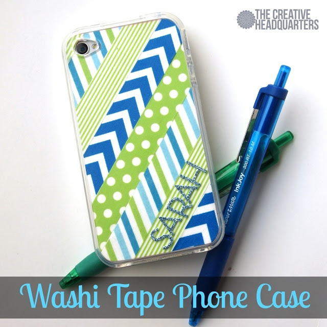The Creative Headquarters: Washi Tape Phone Case {Tuesday Tutorial}