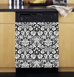 @Overstock - This black and white damask pattern will give your kitchen decor a modern organic feel with simple shapes and colors. This dishwasher cover can protect your dishwasher exterior from everyday bumps and scratches. http://www.overstock.com/Home-Garden/Appliance-Art-Damask-Black-and-White-Dishwasher-Cover/5663292/product.html?CID=214117 $43.99
