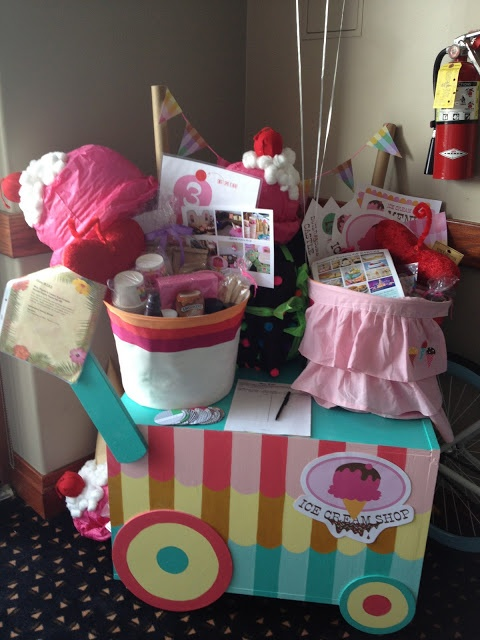 Deanna Moore Design- ice cream social party pack- auction item for school fundraiser