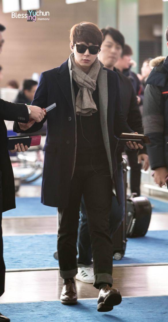 Chun BB In Style at Incheon Airport Heading to Fukuoka, Japan ❤️ JYJ Hearts