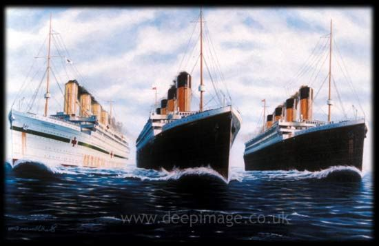 Image result for olympic titanic and britannic