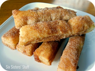 """What an awesome idea! I'm always scared to deep fry anything, so being able to create something very similar just using the oven is a huge win. I used these to top my Churros Cupcakes, and used the remaining to serve alongside them. Delicious. (Baked Cinnamon Sugar Churrors """"Cheater Churros"""") ekw"""