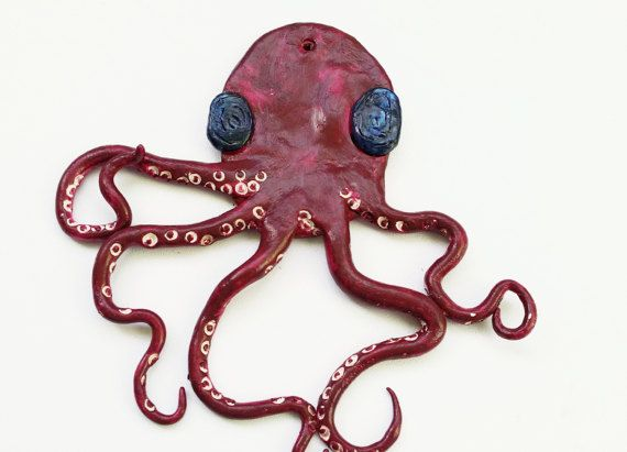 blue purple octopus wall decor ornament home decor wall hangings