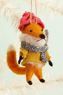 Cottage Fox Ornament - anthropologie.com - $16.00