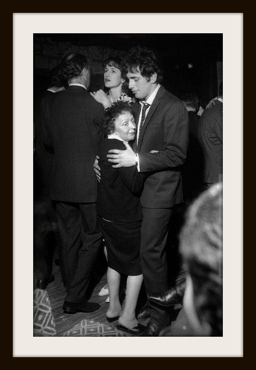 Edith Piaf and Theo Sarapo her last husband dance at the Paris Club Saint-Hilaire………………..For more classic 60's and 70's pics please visit & like my Facebook Page at https://www.facebook.com/pages/Roberts-World/143408802354196