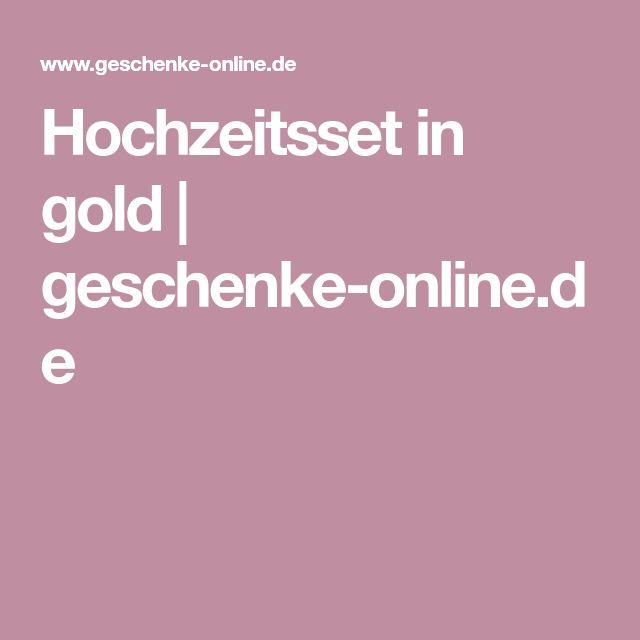 Hochzeitsset in gold | geschenke-online.de