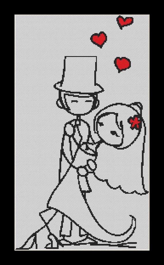 Dance The Night Away, wedding Cross Stitch Download pdf chart on Etsy, $7.05
