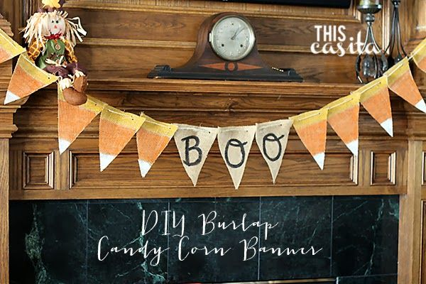 This Casita - DIY Candy Corn Burlap Banner