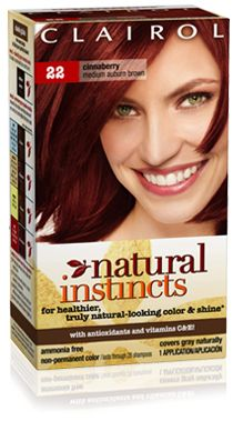 Clairol Natural Instincts 22 Cinnaberry (Medium Auburn Brown). Gotta love red hair! This is the color that I usually die my hair:) can't wait til after cheer tryouts to do that =D