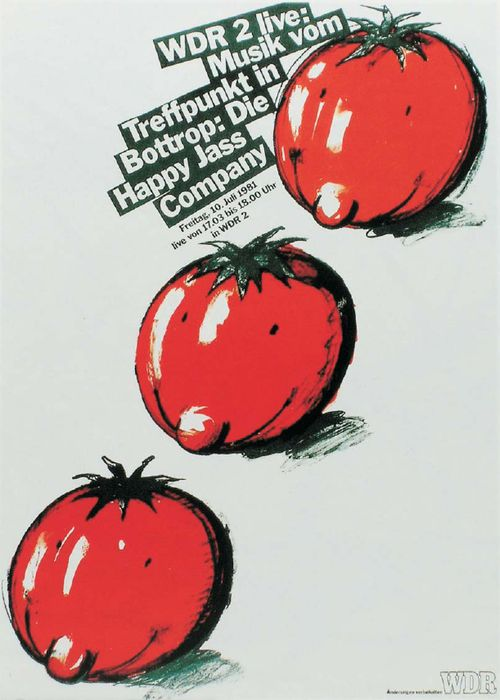 Heinz Edelmann: poster artwork for radio live concerts (1981). Country Music and Happy Jass Company, Germany. WDR, Cologne [2].