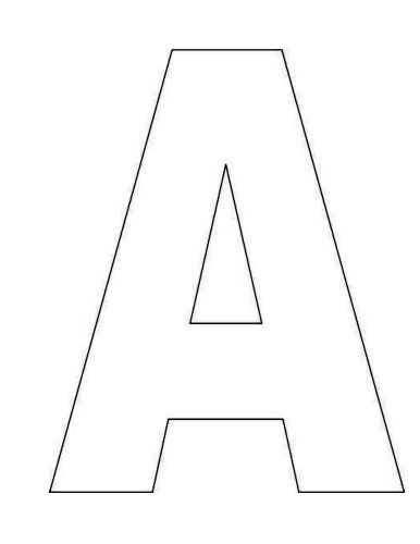 Printable Alphabet Letter A Template! Alphabet Letter A