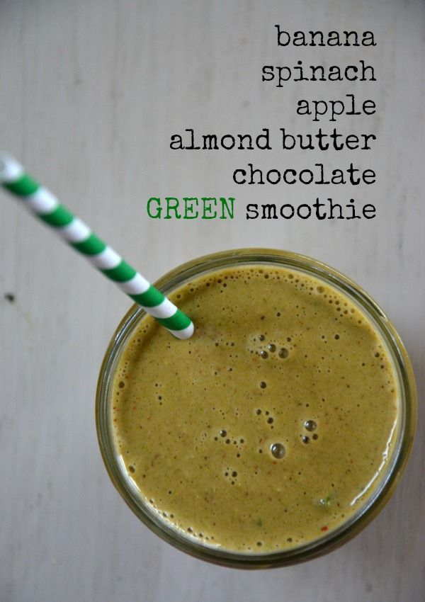 Chocolate Banana Green Smoothie | www.mountainmamacooks.com #glutenfree #dairyfree