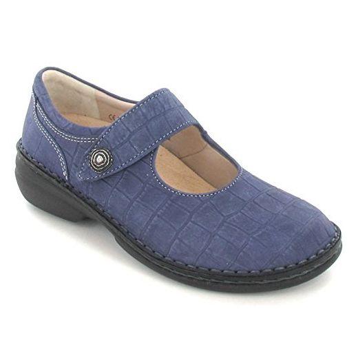 FinnComfort Laval Größe 40 Blau (d'blau) - Slipper und mokassins für frauen