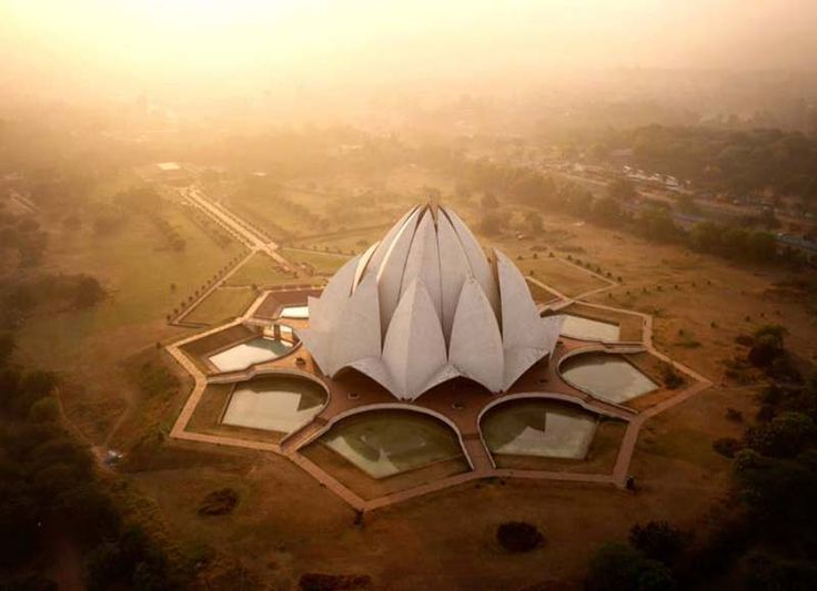 Amos Chapple - The Lotus Temple, New Delhi, India - official site http://www.amoschapplephoto.com/air/