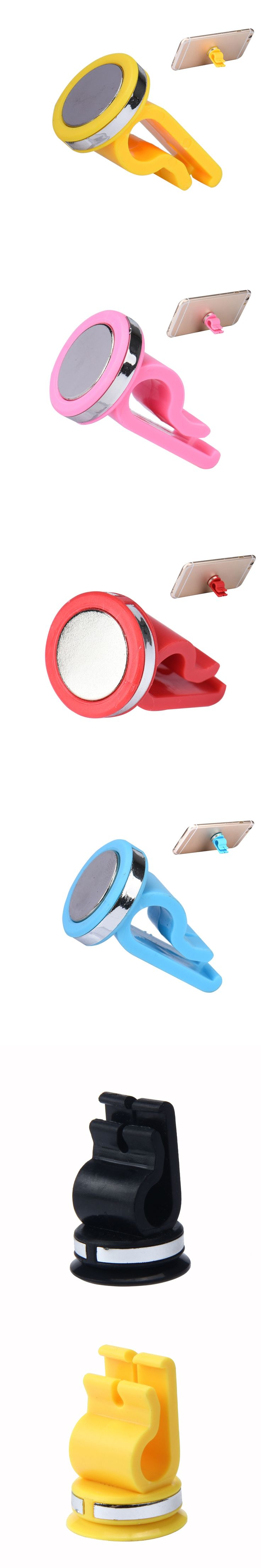 New Universal Car Air Vent Phone Holder Mount Stand Magnetic for iPhone Phone GPS Car Styling Accessories