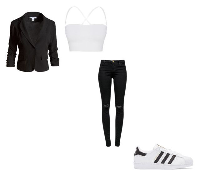 """#406"" by aureeliet on Polyvore featuring Theory, J Brand, Sans Souci and adidas Originals"