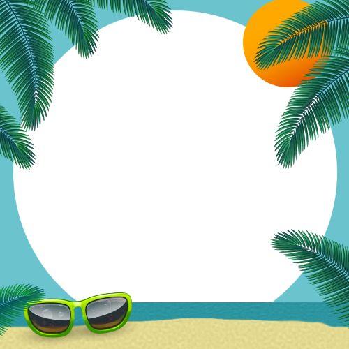 Beach frame for your Selfie #selfmeapp