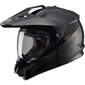 GMax - GM11D Solids Dual Sport Helmet - Black