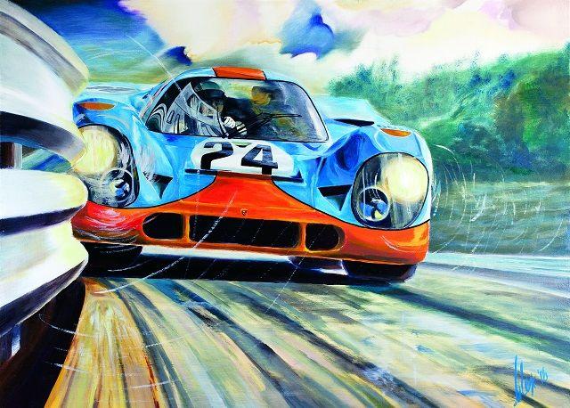 Speed Lines: Exposição de pinturas de Alex Wakefield no Museu do Caramulo
