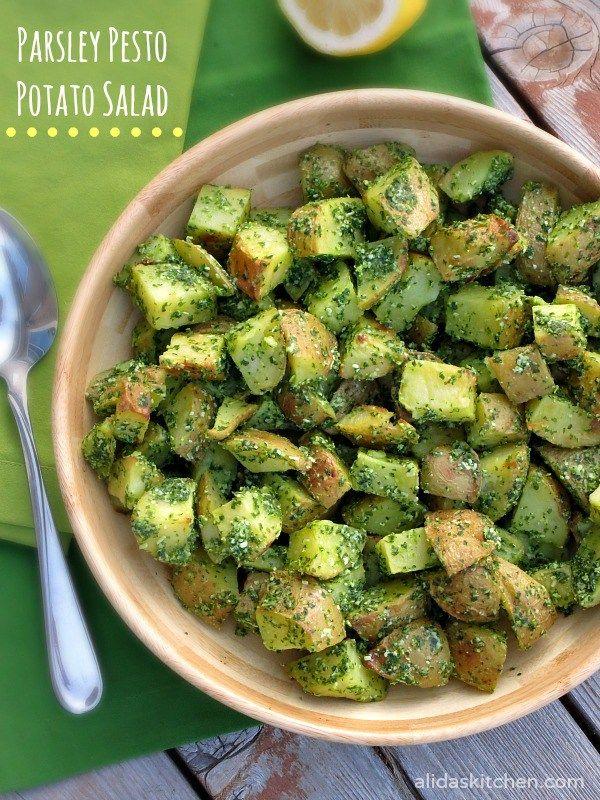 Parsley Pesto Potato Salad