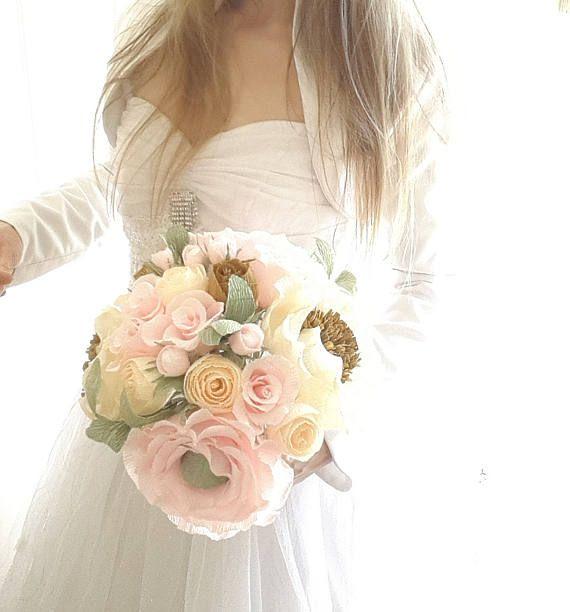 Stunnig Bride New DESIGN Wedding Bouquet Rustic high quality