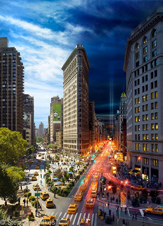 """Day to Night NYC by Stephen Wilkes, Saw this on """"Sunday Morning"""" this week."""